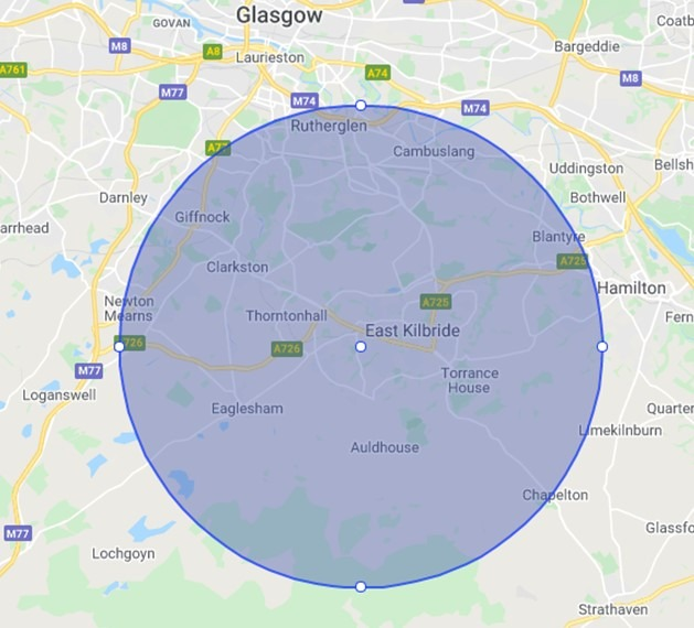 Areas We Cover - Plumbers East Kilbride